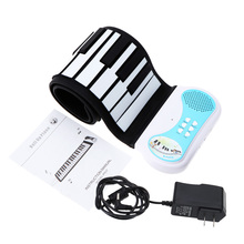 Good Quality 37 keys Roll-up Piano Flexible Soft Keyboard Piano Educational Instrument for Kids US / UK / EU Plug for Option