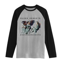 Vintage Fashion Men Women Size Raglan Full Sleeves Long Sleeves T Shirt Item NO FLBMSS 085
