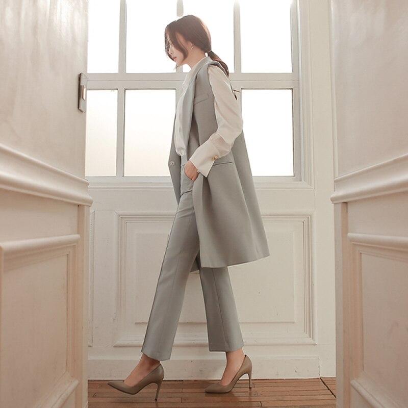 Fitted Américain De Ol Section Veste Nouveau Longue Printemps Pantalon Costume dod523 Carrière Gilet Et Européen Mince 1 Pièce wRgfZ