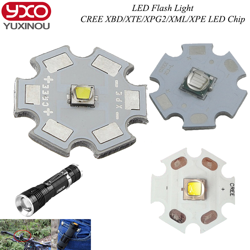 1pcs Cree XPG2 XM-L T6 XBD R3 / XP-E R3/R5 / XT-E R5 <font><b>LED</b></font> Flashlight light Bulb Chips <font><b>UV</b></font> <font><b>LEDs</b></font> Diode Cool White with 20mm base image