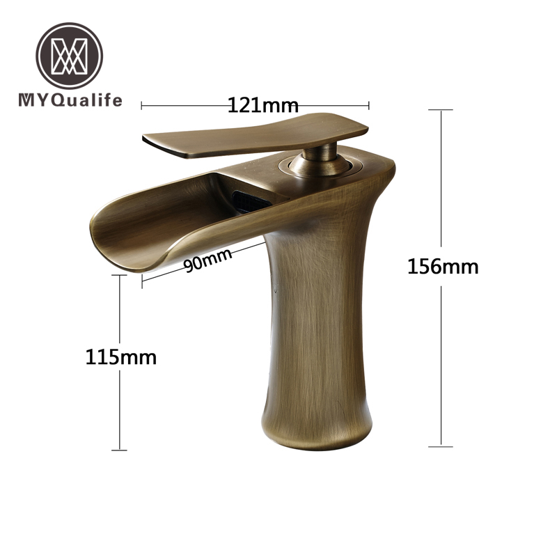 Free Shipping Antique Brass Basin Faucet Single Level Deck Mount Cold And Hot Water Tap pastoralism and agriculture pennar basin india