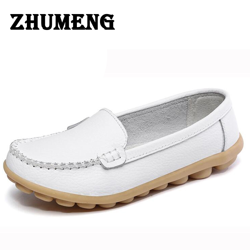 2017 Spring Genuine Leather Mother Women Nurse Pregnant Single Oxfords Shoes Casual Flats Ladies Shoes Loafers Slip On Lofer fine zero spring women casual suede genuine leather platform flats tassel wedge slip on ladies creepers shoes red fur winter