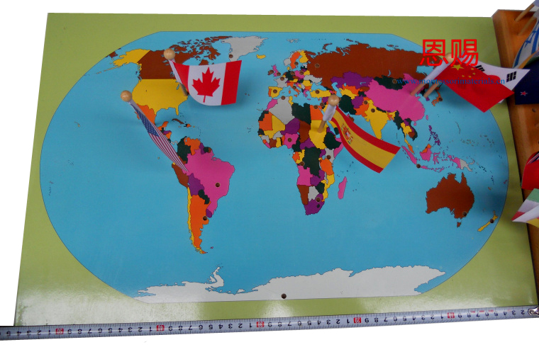 World map and 36 flags montessori materials ce astm educational world map and 36 flags montessori materials ce astm educational earning toys wooden classic baby kids early learning wood 6023 in puzzles from toys gumiabroncs Images