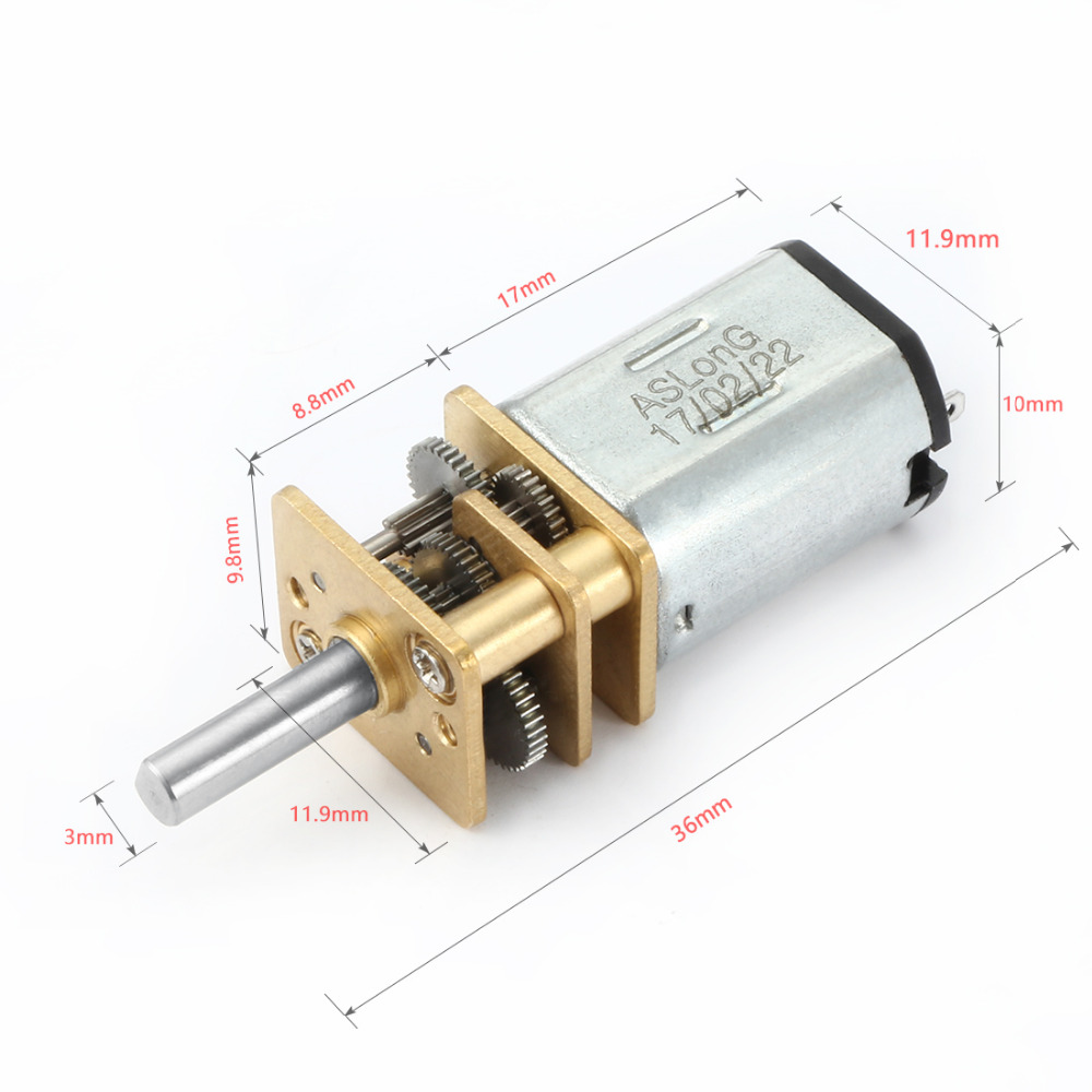 High Quality DC 6V 100RPM Micro Speed Reduction Motor Mini Gear Box with 2 Terminals for RC Car Robot Model DIY Engine Toy dc motor 12v for children electric car rc car dc engine 6v baby car electric engine rs550 motor with 12 teeth and 8 teeth gear