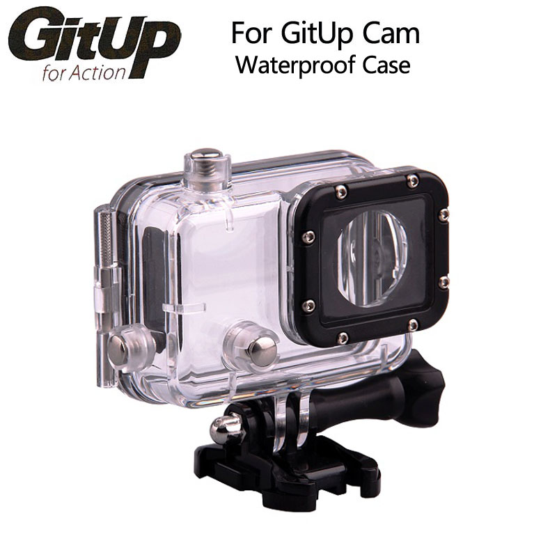 Original GitUP Underwater Waterproof Case for GITUP Diving 30M Waterproof extreme Helmet Cam Mini Camcorder DVR ...