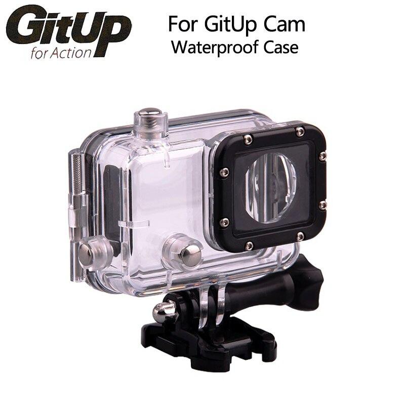 Original GitUp caso impermeable subacuático para GITUP Git1 Git2 buceo 30 m impermeable extrema casco cámara Mini videocámara DVR