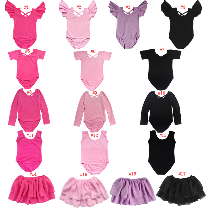 BAOHULU Girls Gymnastics Leotard Dzieci Dance Wear Kids Body Dziewczyny Dance Leotard Tutu Performance Gym Suits Costume