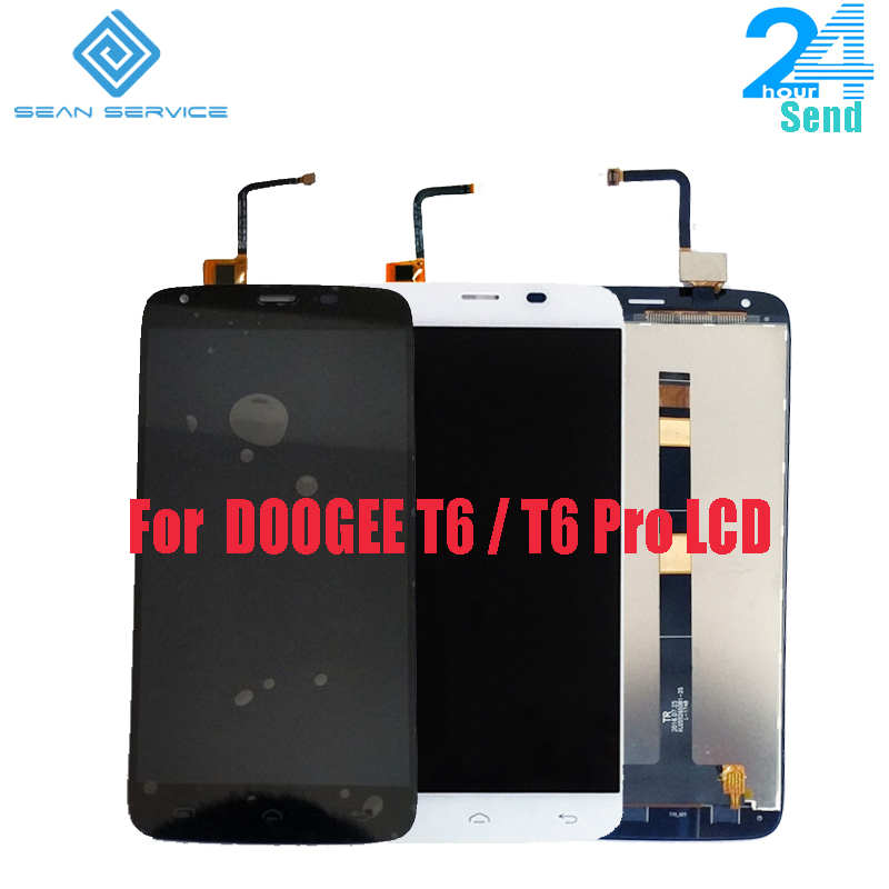 For Original DOOGEE T6 LCD Display+Touch Screen Digitizer Assembly Replacement DOOGEE T6 pro 5.5inch 100% Tested Screen Stock