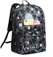 High Q JAPAN Anime clannad around Backpacks high school student unisex oxford plaid daily cute large backpack