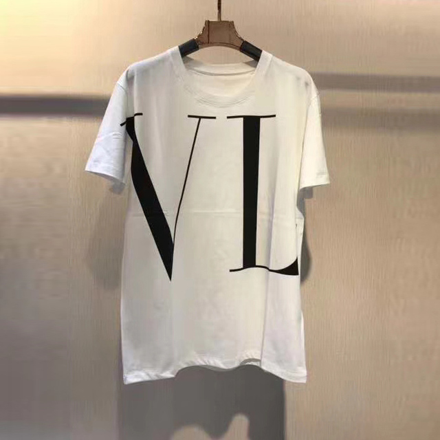 2019 spring designer new arrival 19ss top 100% famous COTTON tees luxury print t shirt for men women brand top