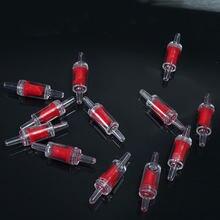 Valve de contrôle sans retour pour système de Co2 pour Aquarium, 2 pièces/lot, 4mm, Valve à Air unique, rouge