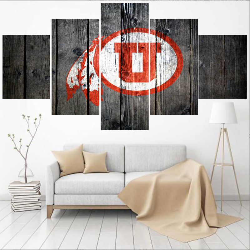 Home Decor Stores Utah: Sport Logo Utah Utes University Team Paintings Modern Home
