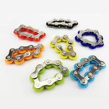 Finger Spinner Ring Toy Stainless Steel Chain Ring Anti Stress Toys