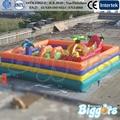 FRETE GRÁTIS POR MAR Preço de Fábrica Inflável Cidade do Divertimento Casa Pulando Trampolim Inflável Para A Venda