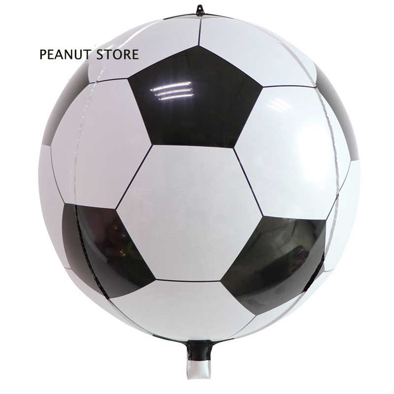 4d 22 Inch Olahraga Bulat Metalik Sepak Bola Foil Balon Sepak Bola Ulang Tahun Baby Shower Pesta Dekorasi Helium Inflatable Globos Bola Aliexpress