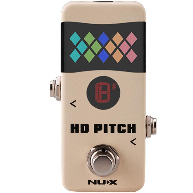 NUX HD PITCH Mini accordeur à pédale réglage précis Correction du Signal tampon contournement véritable dérivation flèche réglage des Modes stroboscope accessoires