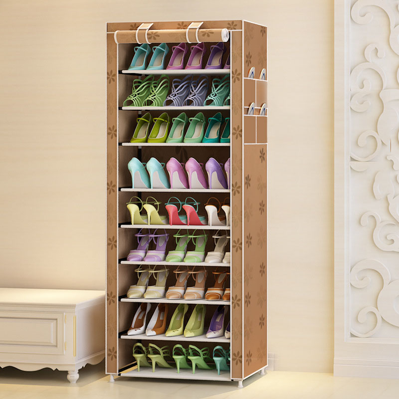 Actionclub Ten Layers Shoes Rack Strong Durable Oxford Cloth Fabric Shoe Organizer Rack Modern DIY Shoes Storage Shelf-in Shoe Cabinets from Furniture