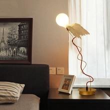 купить Nordic Style Angel LED Table Lamp  Bedroom desk lamp Bedside Decor Lights & Lighting Study Room desk light Design Table Lights дешево