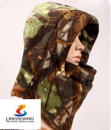 Winter Camouflage Warm Fleece Balaclava Motorcycle Hunting Wind Cap Hat Snowboard Full Face Mask