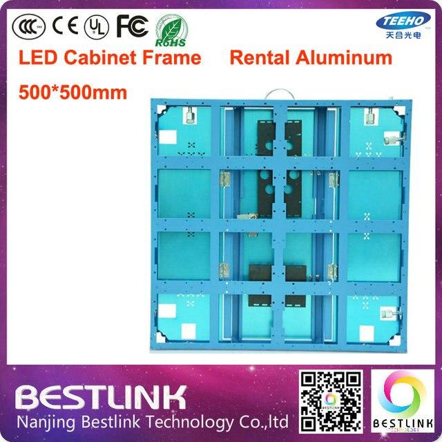 500*500mm led de aluminio marco del gabinete gabinete pantalla led ...