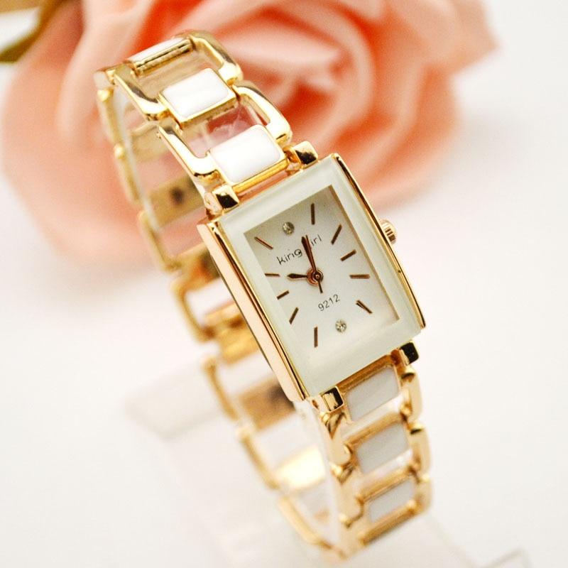 Enkel Design Office Lady Armband Quartz Klockor Armbandsur Girl Relojes Mujer Bangle Klocka för Teenage Girls Söt