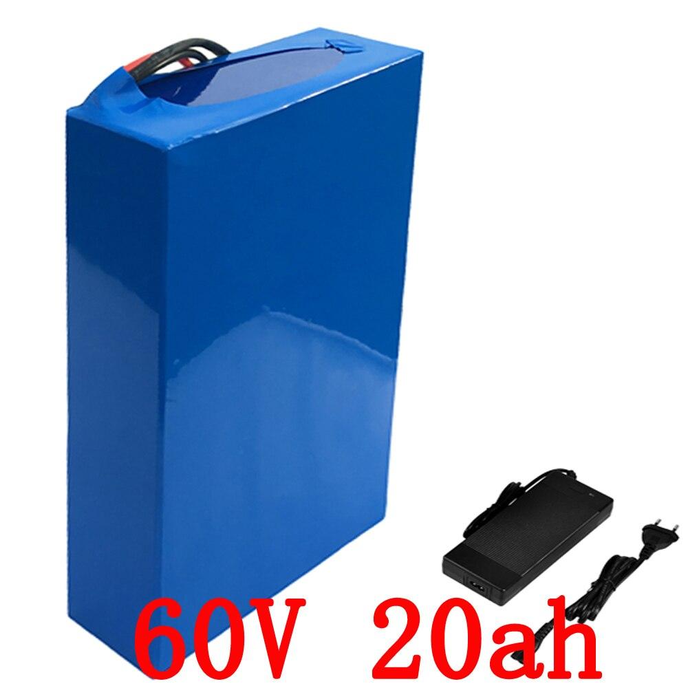 60 В 20AH литий-ионный аккумулятор 60 В 1500 Вт Электрический велосипед Батарея Pack 60 В электрический скутер Батарея с 30A BMS + 67,2 В 2A зарядное устройс...
