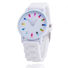 Vansvar Brand Hot Selling Fashion Candy Color Silicone Quartz Watch Women Wrist Watch Relogio Feminino Gift 369