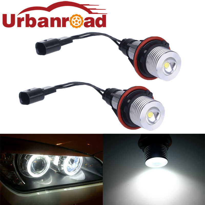 2pcs White 3w Led 12v Angel Eyes Light For BWM E39 Led Marker Angel Eyes Lamp Light Bulb For E60 e61 E39 E63 E64 E65 E66 E83 new e39 rgbw ir remote control led marker angel eyes for bmw e87 e60 e61 e63 e64 e65 e66 e53 e83 x5 rgb color changing lighting