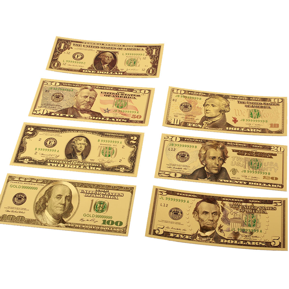 24K GOLD FOIL PLATED 1934 $100,000 BANKNOTE CURRENCY NOVELTY MONEY W//COA HOLDER