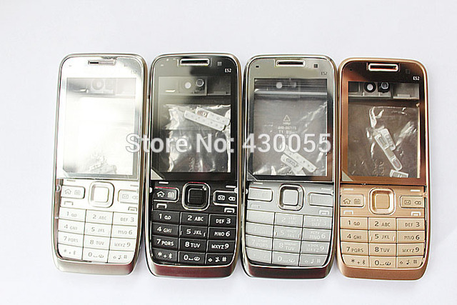 3pcs Black/Silver/White Brand New complete Full Housing Cover Case + Keypads + Buttons For Nokia E52,free shipping