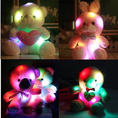 Multi-Color Plush Geim Velvet Teddy Bear Glow Light Up Rotation Toy Gif Giant Teddy Bear Cute Toys For Children Kawaii Plush Toy