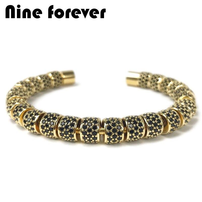 Neuf forever bracelet perles hommes bijoux en acier inoxydable bracelets & bracelets pour femmes pulseira masculina bileklikNeuf forever bracelet perles hommes bijoux en acier inoxydable bracelets & bracelets pour femmes pulseira masculina bileklik