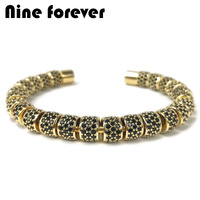 Nine forever beads bracelet men jewelry Stainless Steel bracelets & bangles for women pulseira masculina bileklik