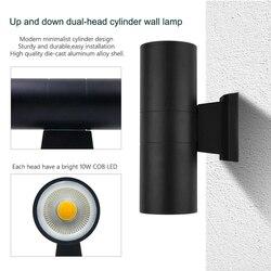 Nowoczesne domy styl wodoodporna IP65 LED lampy spryskiwaczy ściany 6 W 12 W 18 W 36 W 48 W COB cree Chip zewnętrzne oświetlenie ścienne led oprawa