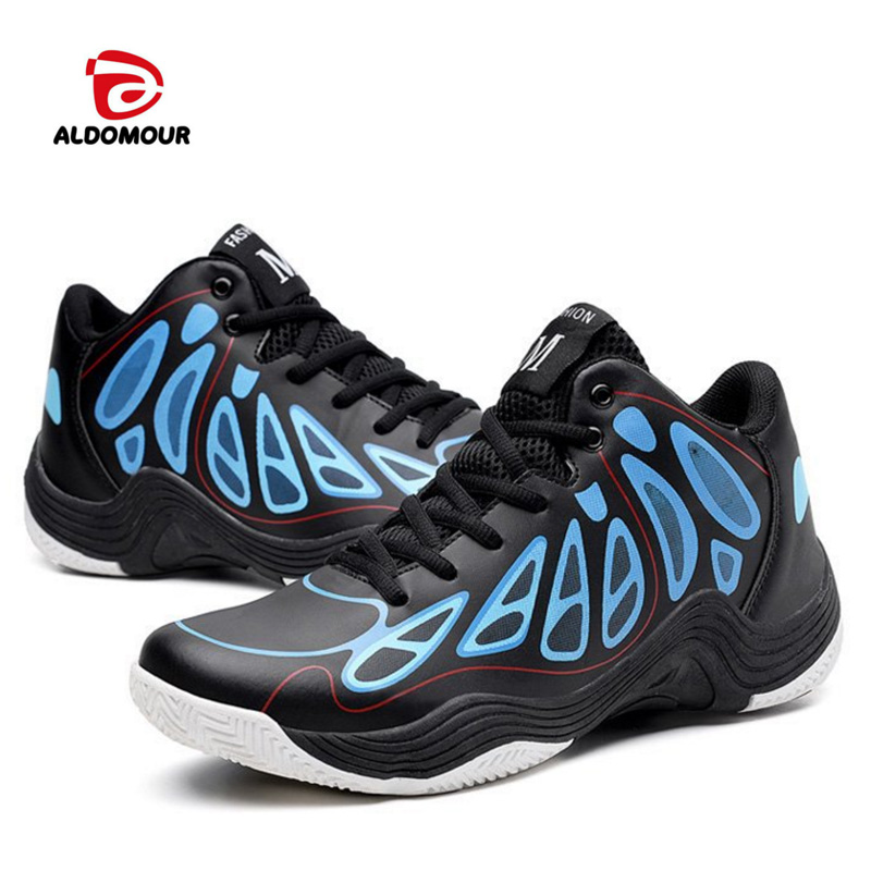 ALDOMOUR New High Top Basketball Shoes Professional Basketball Shoes Anti-slip Outdoor Athletics Light Breathable Sneakers