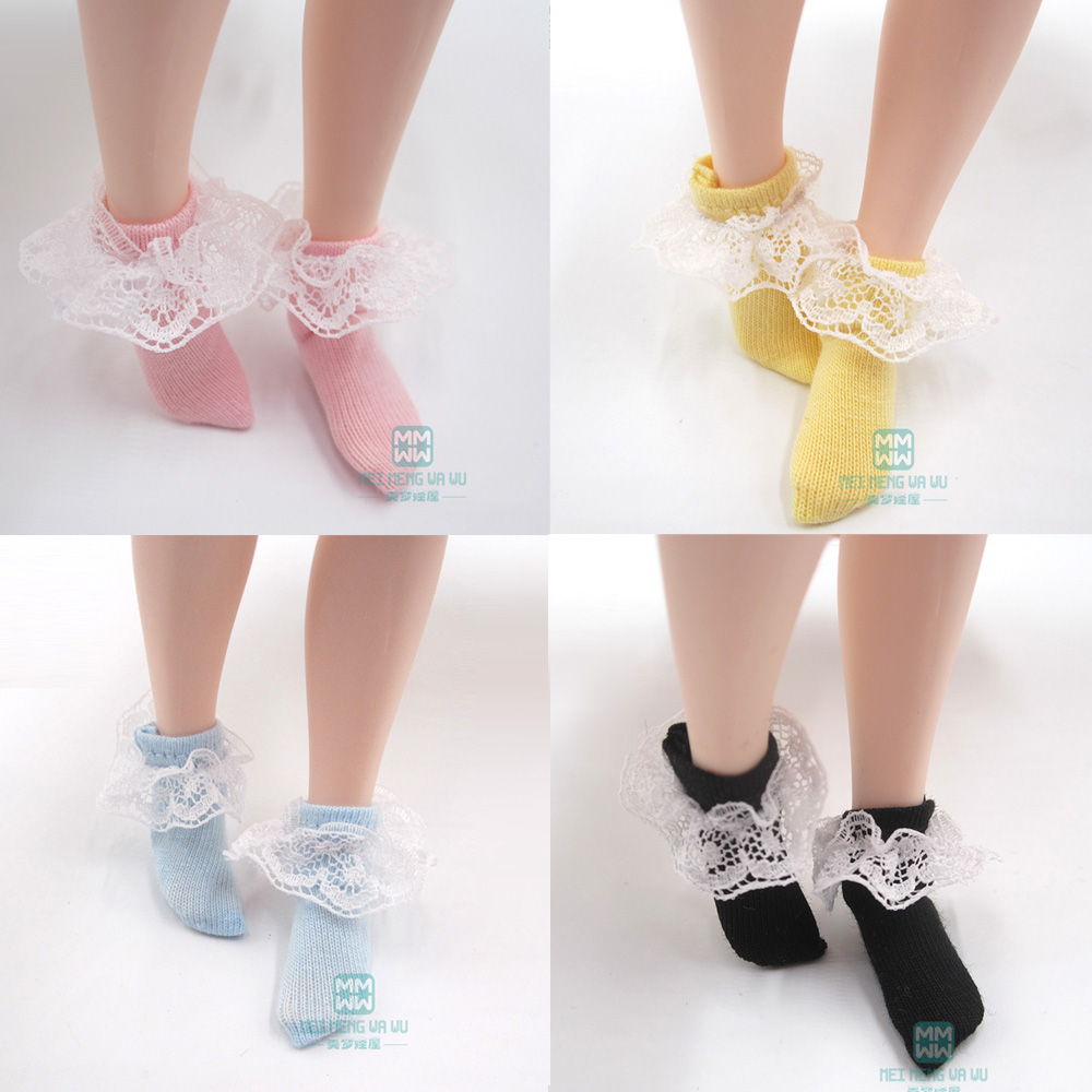 Fits Blyth Azone 1/6 Doll Accessories Fashion Lace Stockings Pink, Blue, Black, Yellow