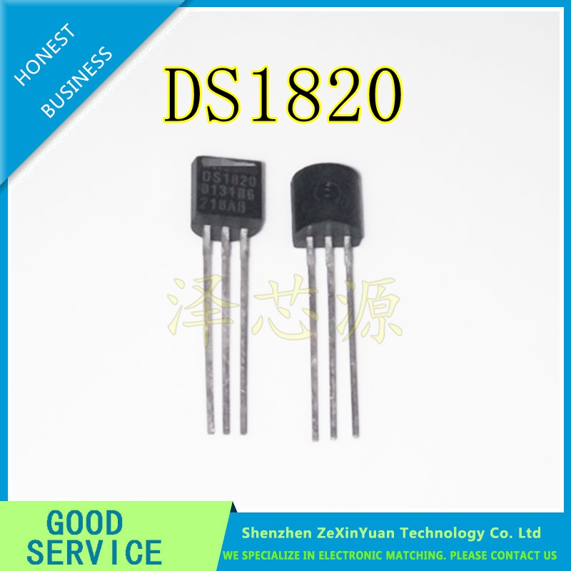 10PCS/LOT NEW ORIGINAL <font><b>DS1820</b></font> <font><b>TEMPERATURE</b></font> <font><b>SENSOR</b></font> 1820 BACK TO-92 image
