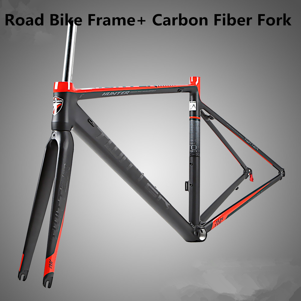 Hunter aluminum alloy road bike frame+ carbon fiber fork inside all-axis anti-cursor 700C road racing frame hunter aluminum alloy road bike frame