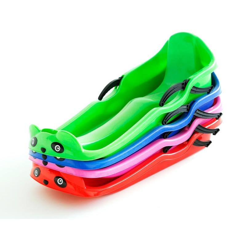 Modèle Parent-enfant de Double planche de sable à dos haut planche glissante neige charrue placage pour augmenter épaississement Snowboard couleur aléatoire