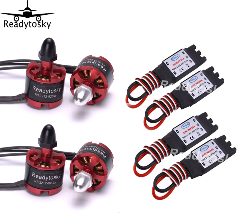 Readytosky 2212 920KV CW/CCW Brushless Motor + 30A Simonk ESC with 3.5mm Connector for S500 F450 F550 S550 Multicopter xxd 4pcs a2212 1000kv brushless motor with 4pcs 30a esc for multicopter quadcopter