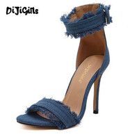 Baibeiqi Gold Black Zapatos Mujer Women Pumps Bridal Shoes Gladiator Sandals Bandage Strappy Snakeskin Print Leather