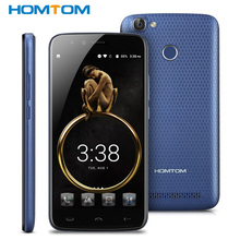 "HT50 HOMTOM 5500 mAh Original 4G Teléfono Móvil Android 7.0 5.5 ""HD MT6737 Quad Core 3 GB + 32 GB Smartphone 8MP Dual Levas de Huellas Digitales"