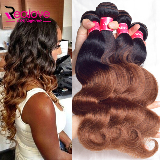7A Ombre human Hair Extensions 1b/33# Peruvian Body Wave 4 Bundles, Peruvian virgin hair body wave ombre peruvian hair bundles