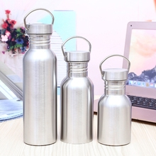 Cycling Stainless Steel Water Bottle Camping Bicycle Outdoor Sports Travel Tools portable stainless steel sports bottle straight drink bicycle travel cold bicycle water bottle outdoor sports pot a1