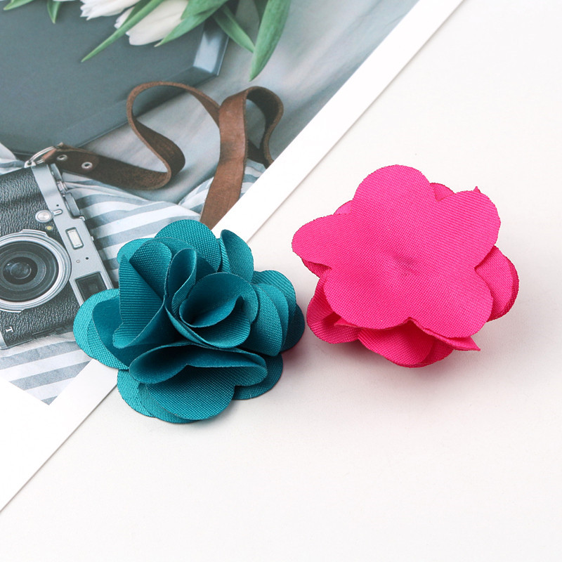 100Pcs Mix Colors Mini Chiffon Fabric Flower For Wedding Invitation Artificial Flowers For Dress Decoration-in Jewelry Findings & Components from Jewelry & Accessories