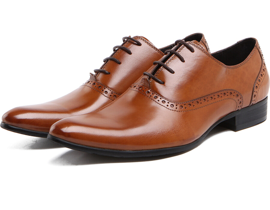 Brown Pointed Shoes For Men