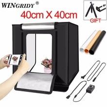 WINGRIDY W40 LED Folding Photo Studio Softbox Lightbox 40*40
