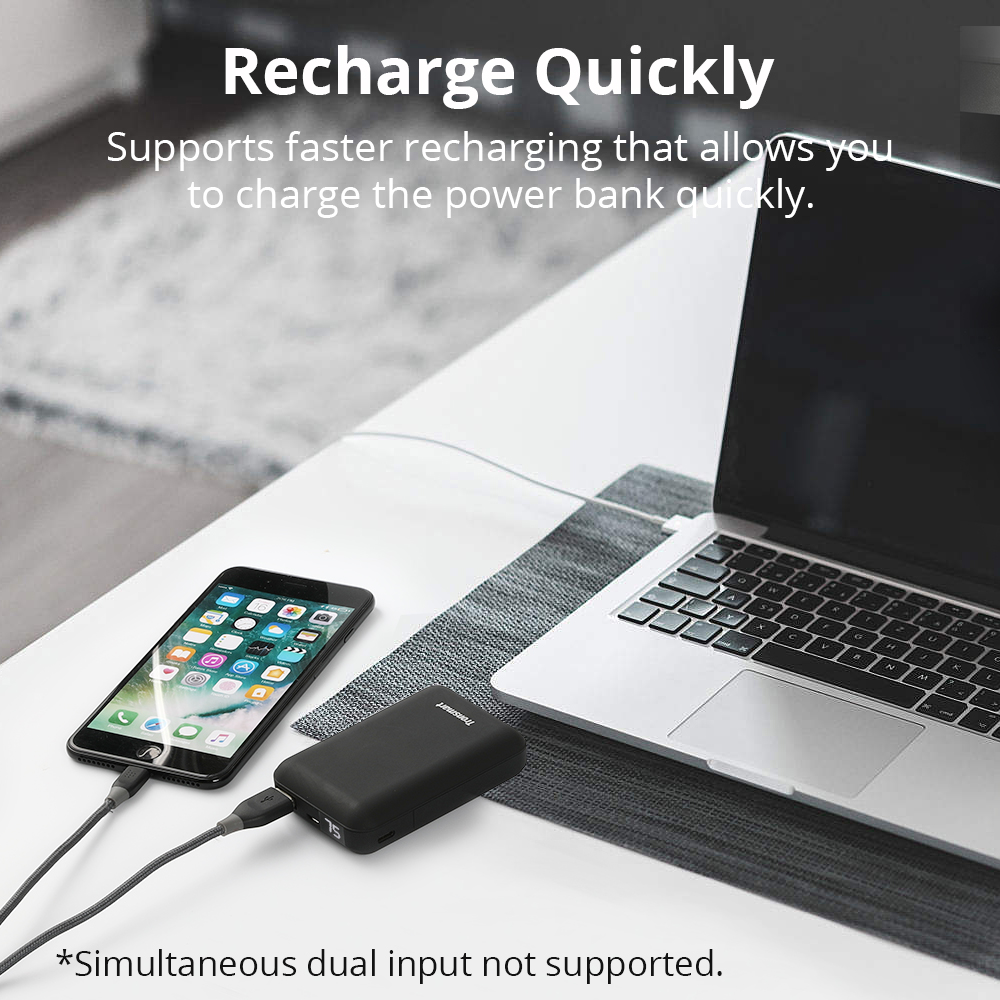 Image 3 - Tronsmart PB10 Mini Power Bank 10000mah Fast Charge External Battery Portable Charger with LED Display for iPhone,Samsung,xiaomi-in Power Bank from Cellphones & Telecommunications