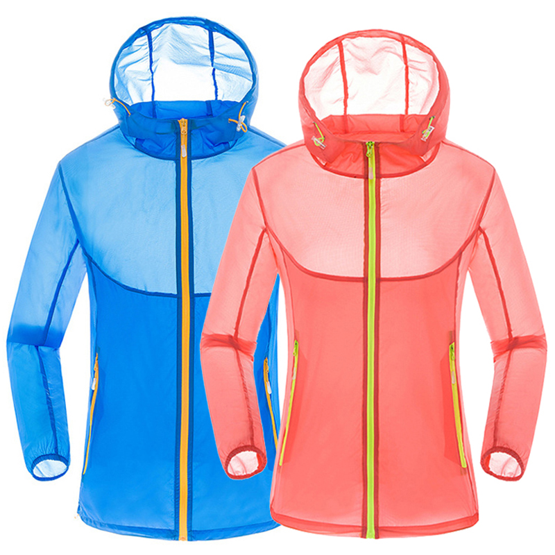 Sun Protection Jacket Female Summer Breathable Outdoor Sports Seaside Men Women Waterproof Windproof Quick dry Hiking Skin Coat