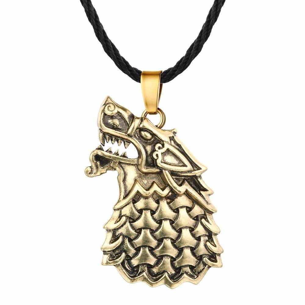 Punk Men Gothic Necklace Freki Wolf Of Odin Pendan Viking Scandinavian Jewelry
